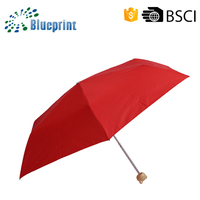 Special Design Small Pocket Size Kids Red Light Folding Umbrella