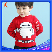 Wool Sweaters For Young Cheap Pullover Cartoon Sweater Knitting For Boy