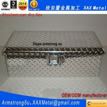XAX1157Alu OEM ODM customized black with clear lid aluminum car tool box