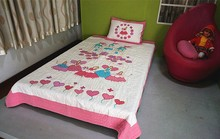 patchwork printed & embroidery 100% cotton kid bed/quilt