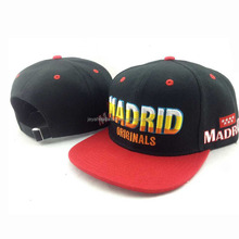 Custom embrider snapback caps hip hop hats sports headwear wholesaler
