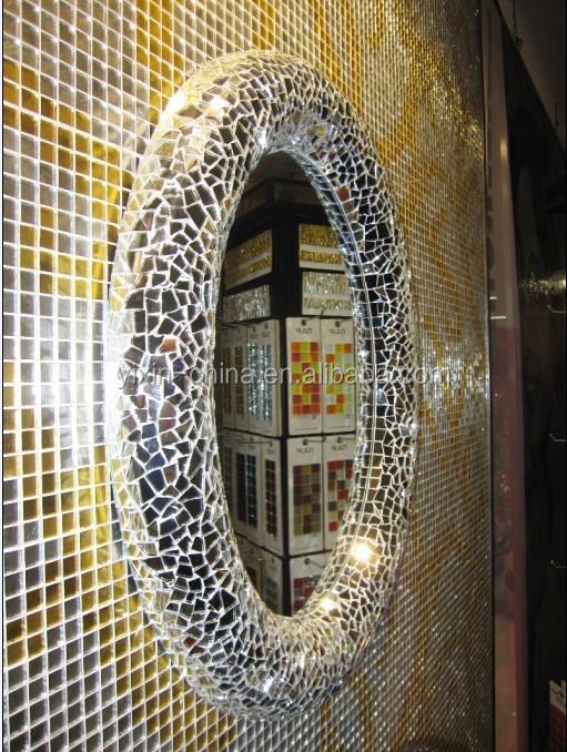 2015 rond ou ovale argent mural d 233 coratif encadr 233 e verre mosa 239 que