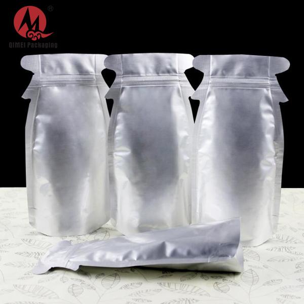 Forme spéciale en aluminium feuille sac à fermeture zip poche sacs d'emballage pour snack/cookie/banane puces