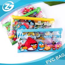 Transparent PVC Cute Anime Cartoon Pencil Case School Supplies Girls Boys Pencilcase Pen Pouch Stationery Bag