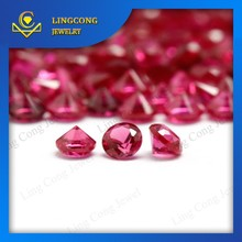 semi-precious high quality 8# ruby gems for jewelry material