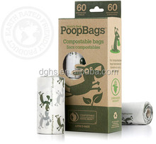 Oxo-biodegradable pet waste dog poop bags with logo