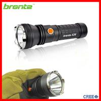 Bronte X26 Powerful 900 lumens XM-L U2 led aluminum hand held strobe light