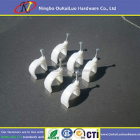 Plastic Wall Nail Nylon Cable Clips