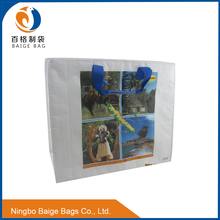 recyclable folding thermal plastic non woven wine cooler carrier bag