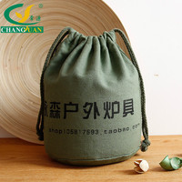 Deep-Green Canvas Travel Bag Canvas Tote Material,Double Pull Tote Bag,Drawsting Print Logo bags Messenger Cotton bags