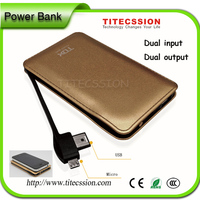 Universal cell phone battery charger mobile rohs 6000/8000mah portable power pack