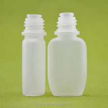 10ml translucency oblate pe bottles with mall mouth ,for e liquid/essential oil /cream oil