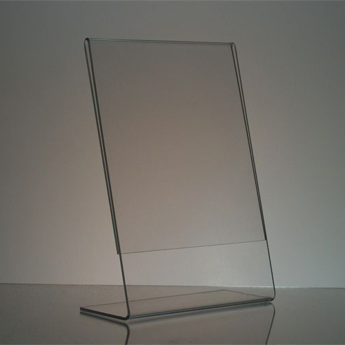 Clear acrylic picture frames 8x10 l shaped clear lucite for Where to buy lucite
