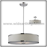 UL/CUL Listed Hotel Adjustable Rods Drum Pendant Lamp With Bottom Acrylic DiffuserC50290