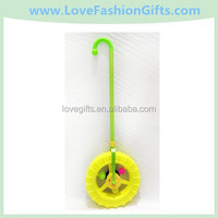 Yellow Unicycle With Cane Shape Children Toy