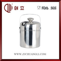 stainless steel ice bucket with handle CL-T19
