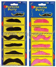 Holiday felt fake moustache and eyebrow black &pink top new artificial mustache beard on sale MU4069