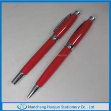 Shiny Metal Roller Pen And Ball Pen Set