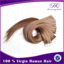 2013 new products on market european tape hair extensions double weft