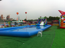 2015 hot commercial large inflatable pool slide