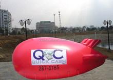 Custom 5mL red inflatanle advertising helium blimp with logos