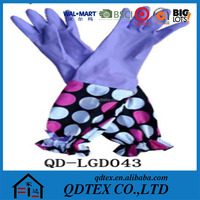 extra long household rubber cleaning gloves