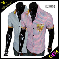 High-end design open shirt styles for men with cheap price