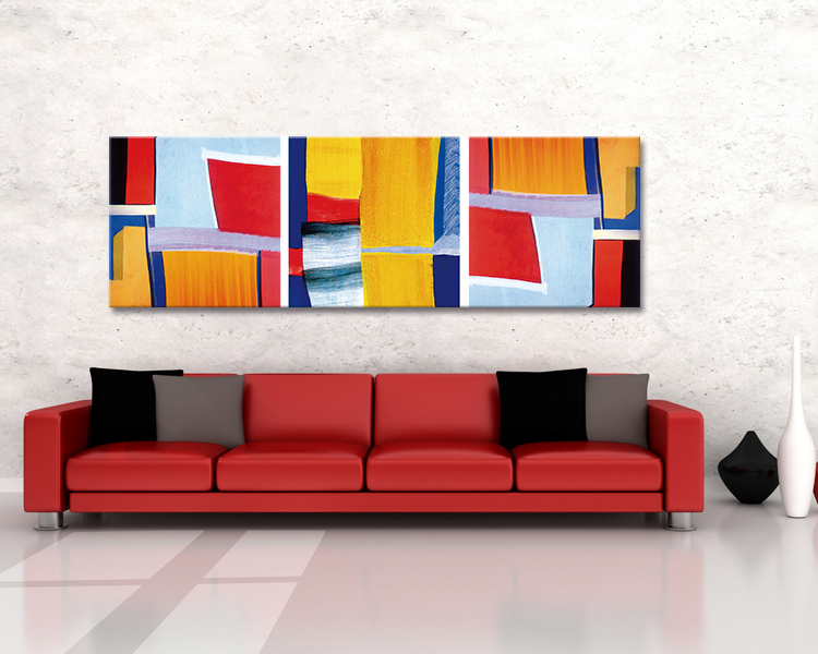 Moderne belle peinture abstraite décoration murale-Peinture et ...