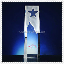 Excellent Star Crystal Frosted Trophy For Corporate Souvenir