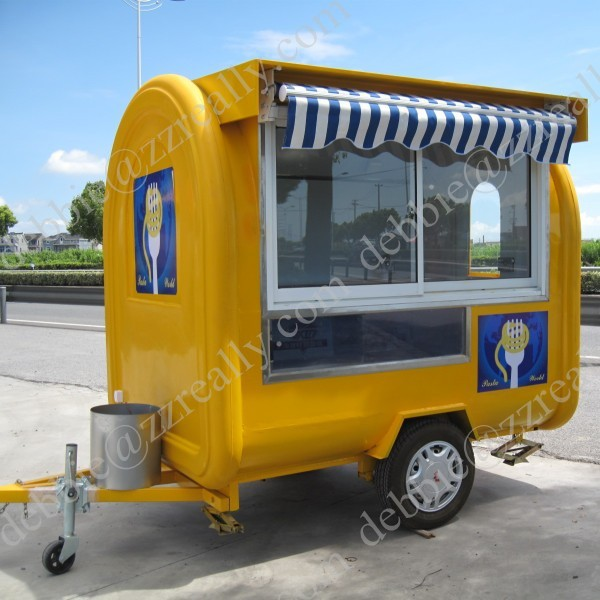 Mobile fried ice cream roll food carts for sale modern mobile food ...