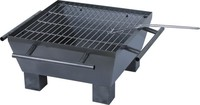 square portable charcoal BBQ fire pit with 2 mm thickness body