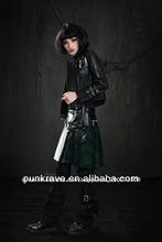 Q-165 de estilo gótico falda/minifalda sexy para las mujeres de punk rave