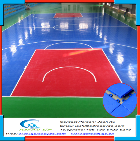 Interlocking sports court flooring plastic indoor for Buy indoor basketball court