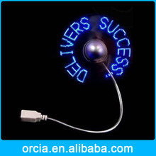 Hot Fashion program usb led fan,mini usb fan with led programmable at factory price