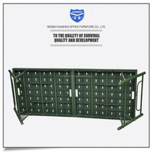 Metal stackable bed for military, steel folding bed