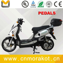 1100W 48V powerful Geared motor adult 2 wheel electric scooter bike / electric motorcycle with pedals--LS3-2