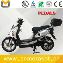 1100W 48V powerful electric motorcycle with pedals / 2 wheel Geared motor adult electric scooter bike --LS3-2