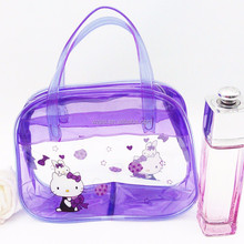 colored clear plastic pvc cosmetic bag