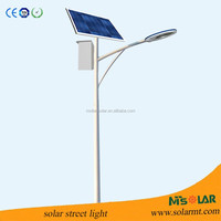 6 meters steel pole 40W solar LED street light with 10 hours lighting