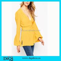 2015 Autumn New Long-sleeve Shirt Blouse Blusas Female Chiffon Women's Slim Clothing