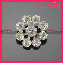 Wholesale flower fancy snap diamond acrylic buttons for garment WBK-1244