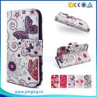 Colorful printing pu leather case flip cover for ZTE Open L for other mobile phone