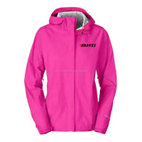 Rose red color polyester type material sexy ladies outdoor wearing bomer jacket