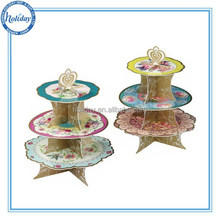 Folding Transport Cardboard Cupcake Stands, Cupcake Display Stands