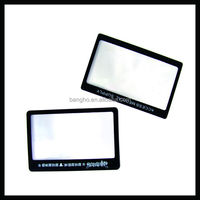 Optical Fresnel Lens Business Card Size PVC Plastic Magnifying Sheets