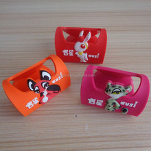 Lucky Mascot OEM Works Soft PVC Function Business Card Holder & Cell Phone Holder - Hot Sale!