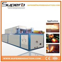 Portable high frequency induction heating machine for bolts
