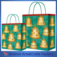 Factory supply garment paper shopping bag with string