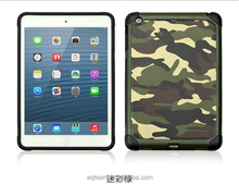 Camouflage tablet case for ipad mini case, pc+tpu tablet case for ipad case