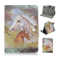 Horse Universal Stand Flip PU Leather Cover Cases For iPad Mini Tablet PC